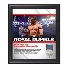 Neville Royal Rumble 2017 15 x 17 Framed Plaque w/ Ring Canvas