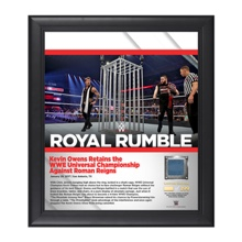 Kevin Owens Royal Rumble 2017 15 x 17 Framed Plaque w/ Ring Canvas