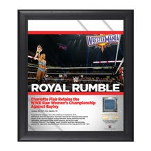 Charlotte Royal Rumble 2017 15 x 17 Framed Plaque w/ Ring Canvas