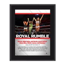 Nikki Bella, Becky Lynch, Naomi Royal Rumble 2017 10 x 13 Commemorative Photo Plaque