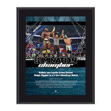 Kalisto & Apollo Crews Elimination Chamber 2017 10 x 13 Commemorative Photo Plaque