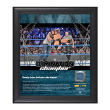 Randy Orton Elimination Chamber 2017 15 x 17 Framed Plaque w/ Ring Canvas