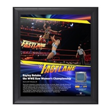 Bayley FastLane 2017 15 x 17 Framed Plaque w/ Ring Canvas