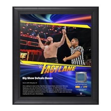 Big Show FastLane 2017 15 x 17 Framed Plaque w/ Ring Canvas