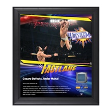 Cesaro FastLane 2017 15 x 17 Framed Plaque w/ Ring Canvas
