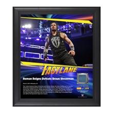 Roman Reigns FastLane 2017 15 x 17 Framed Plaque w/ Ring Canvas