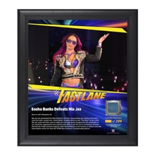 Sasha Banks FastLane 2017 15 x 17 Framed Plaque w/ Ring Canvas