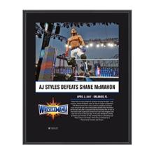 AJ Styles WrestleMania 33 10 X 13 Commemorative Photo Plaque