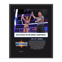 Bayley WrestleMania 33 10 X 13 Commemorative Photo Plaque