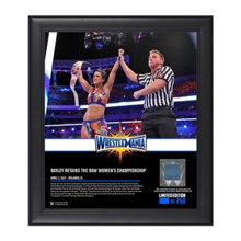 Bayley WrestleMania 33 15 x 17 Framed Plaque w/ Ring Canvas