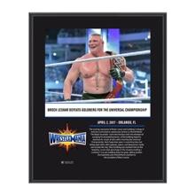 Brock Lesnar WrestleMania 33 10 X 13 Commemorative Photo Plaque
