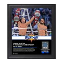 Hardy Boyz WrestleMania 33 15 x 17 Framed Plaque w/ Ring Canvas