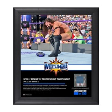 Neville WrestleMania 33 15 x 17 Framed Plaque w/ Ring Canvas