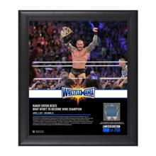 Randy Orton WrestleMania 33 15 x 17 Framed Plaque w/ Ring Canvas