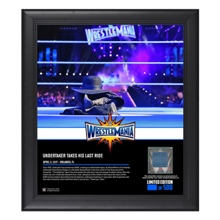 Undertaker WrestleMania 33 15 x 17 Framed Plaque w/ Ring Canvas