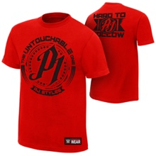 "AJ Styles ""Untouchable"" Red T-Shirt"