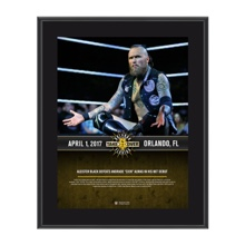 Aleister Black NXT TakeOver Orlando 10 x 13 Commemorative Photo Plaque