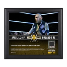 Aleister Black NXT TakeOver Orlando 15 x 17 Framed Plaque w/ Ring Canvas