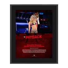 Alexa Bliss Payback 2017 10 x 13 Commemorative Photo Plaque