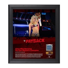 Alexa Bliss Payback 2017 15 x 17 Framed Plaque w/ Ring Canvas