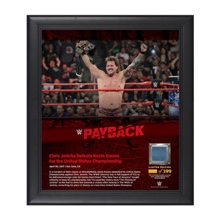 Chris Jericho Payback 2017 15 x 17 Framed Plaque w/ Ring Canvas