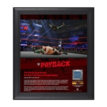 The Hardy Boyz Payback 2017 15 x 17 Framed Plaque w/ Ring Canvas