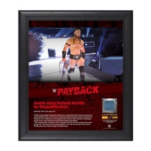 Neville Payback 2017 15 x 17 Framed Plaque w/ Ring Canvas