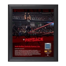 Seth Rollins Payback 2017 15 x 17 Framed Plaque w/ Ring Canvas