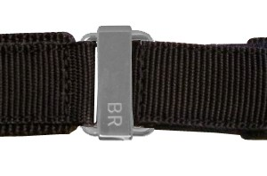 Bell & Ross 24mm Black Canvas Strap 24-6-BLKC-SV