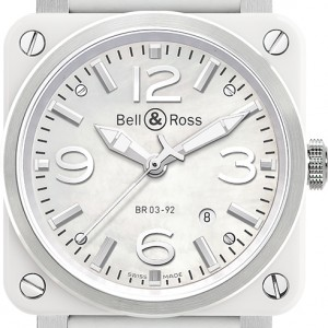 Bell & Ross Aviation Instruments BR0392-WH-C/SCA
