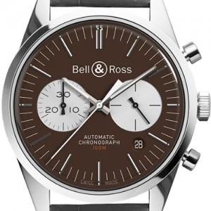 Bell & Ross Vintage Officer BRG126-BRN-ST/SCR2