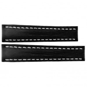 Breitling 16mm Black Calfskin Leather Strap 252X