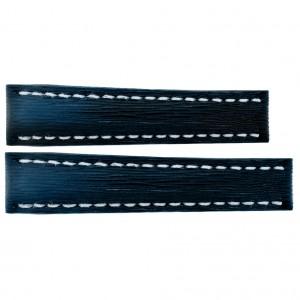 Breitling 16mm Dark Blue Calfskin Leather Strap 254X