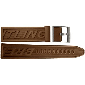 Breitling 24mm Brown Rubber Strap 129S