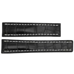 Breitling 22mm Black Crocodile Strap 744P