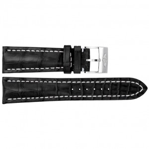 Breitling 24mm Black Crocodile Strap 760P