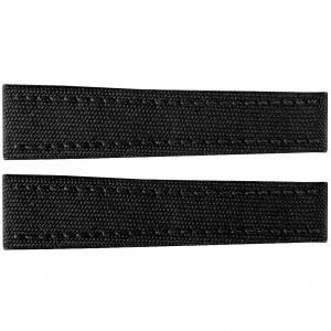 Breitling 20mm Black Canvas Strap 102W