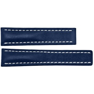 Breitling 22mm Blue Leather Strap 112X