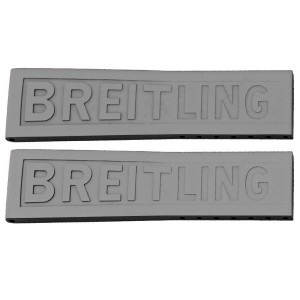 Breitling TwinPro 24mm Grey Rubber Strap 245S
