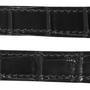 Cartier Roadster Mens 19mm Black Alligator Strap BLKCD-L