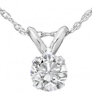 Diamond Pendant, .32 Carats on 14K White Gold RSP033WG