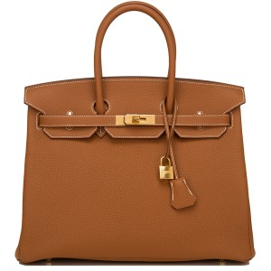 Hermes Birkin Bag 35 Togo Gold