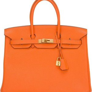 Hermes Birkin Bag 35 Togo Orange