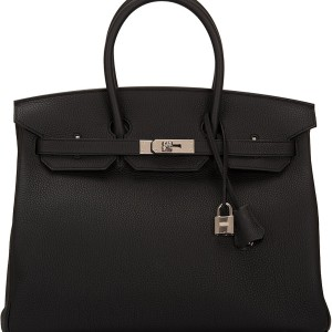 Hermes Birkin Bag 35 Togo Black