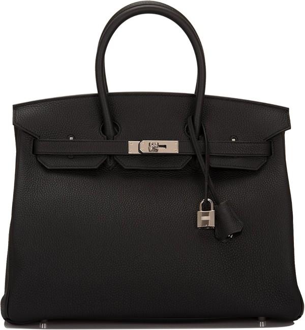 Hermes Birkin Bag 35 Togo Black