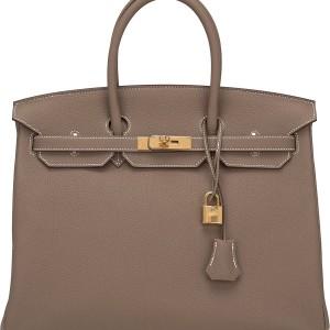 Hermes Birkin Bag 35 Togo Etoupe