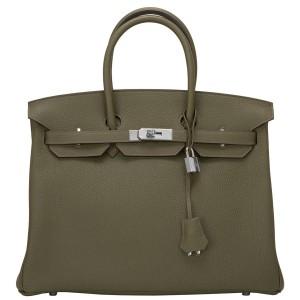 Hermes Birkin Bag 35 Togo Canopee Green