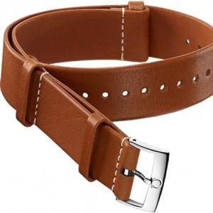 Omega 19mm Leather NATO Strap 031CUZ002060