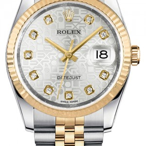 Rolex Datejust 36 Silver Jubilee Diamond Women's Watch 116233