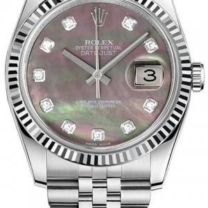 Rolex Datejust 36 Women's Pearl Watch 116234